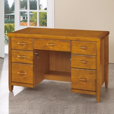 愛比家具 森杰4.2尺柚木色書桌/辦公桌