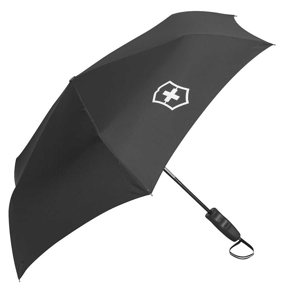 Victorinox 鈦金屬自動收合雨傘-黑