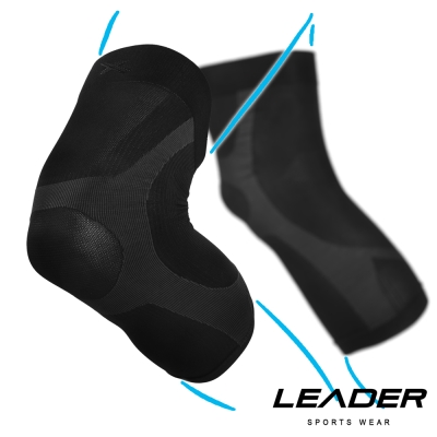 LEADER 進化版X型運動壓縮護膝腿套 2只入