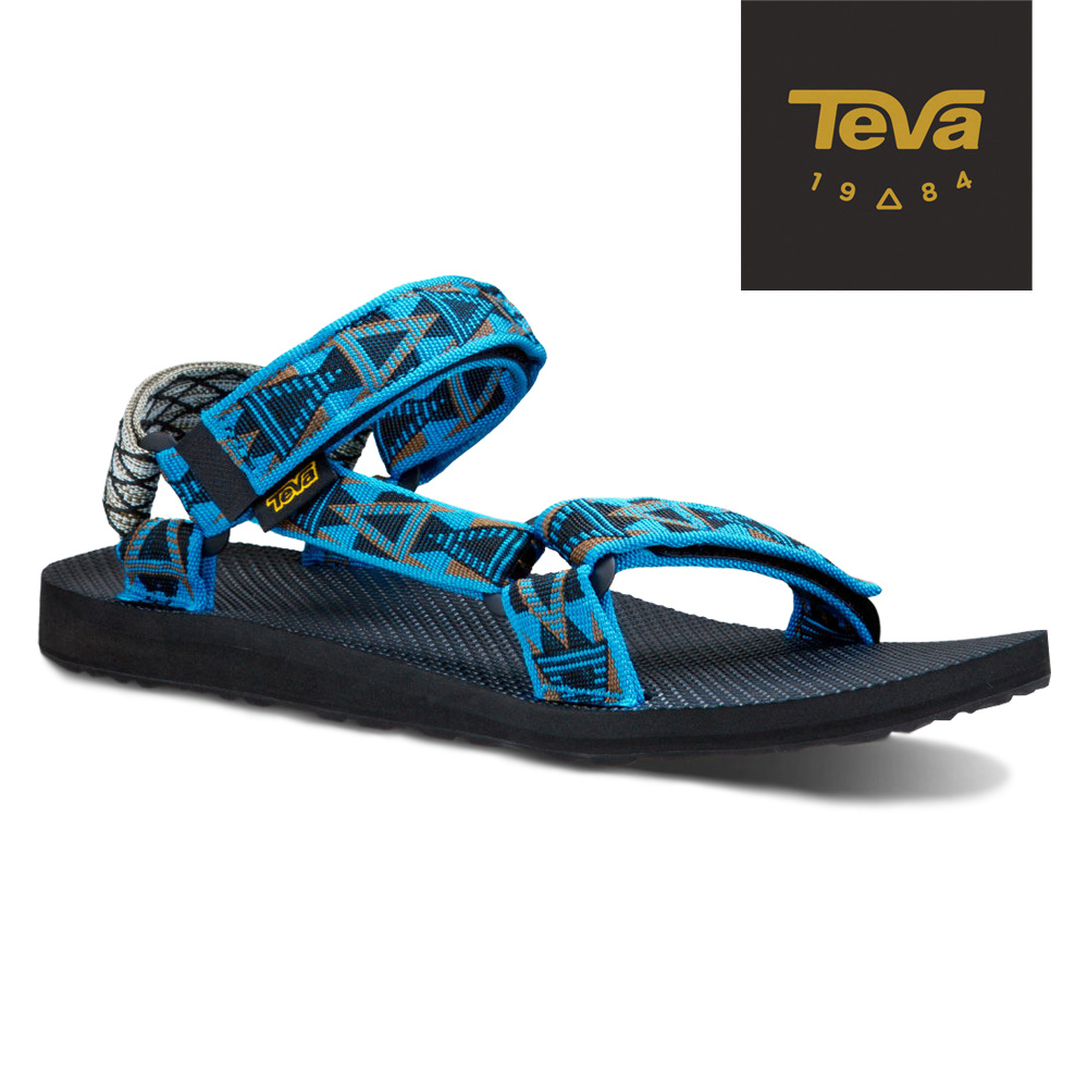TEVA 美國-男 Original Universal 緹花涼鞋 (格菱藍)
