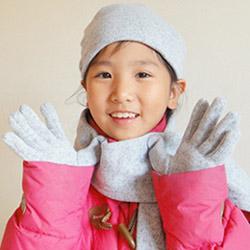 【CoFeel酷咖絨】咖啡混紡兒童時尚保暖手套-灰色