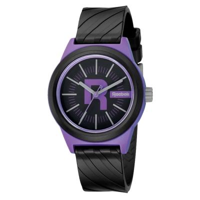 Reebok Swirl系列潮流漩渦運動腕錶-紫x黑/38mm