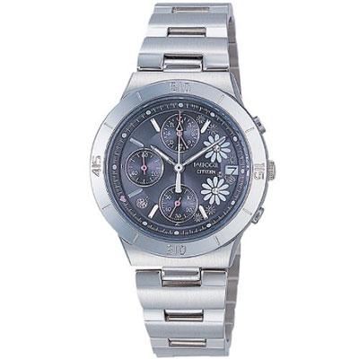 CITIZEN Wicca 小瓢蟲花語氣質腕錶(FA1007-57H)-鐵灰/31mm