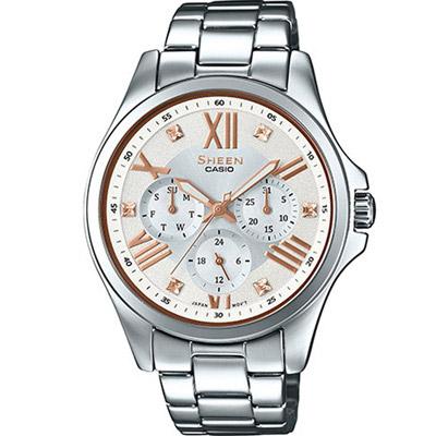 SHEEN羅馬時刻SWAROVSKI簡單俐落腕錶(SHE-3806D-7B玫瑰金刻39m