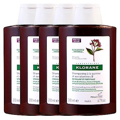 KLORANE蔻蘿蘭 養髮洗髮精200ml(四入組)