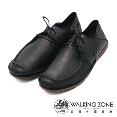 WALKING-ZONE-英倫真皮方頭開車鞋-兩用