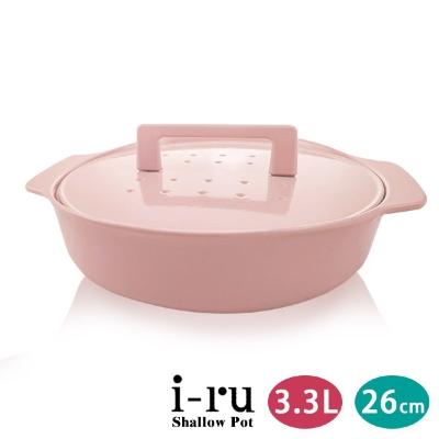 日本南部鐵器I-RU琺瑯鑄鐵淺鍋-媽媽鍋26cm