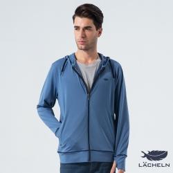 【LACHELN】吸排防曬針織外套-石灰藍(L61M503)