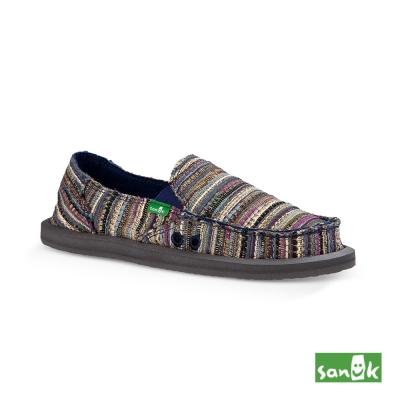 SANUK 民俗針織懶人鞋-女款(藍紫色)