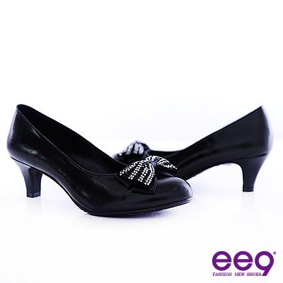 ee9-唯美名伶-A級水鑽秀氣小羊皮高跟鞋-絕對黑