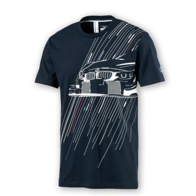 PUMA-男性BMW系列印花短袖T恤-車隊藍-歐規