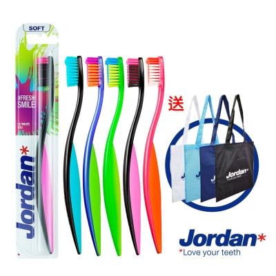 Jordan超纖細彈力護齦牙刷6入組(軟毛)