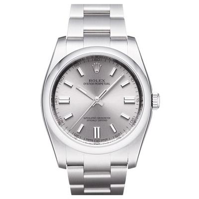ROLEX 勞力士 Oyster Perpetual 116000 蠔式恆動腕錶-銀灰/36mm
