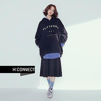 H:CONNECT 韓國品牌 女裝 - 清新直紋長襯衫 - 藍
