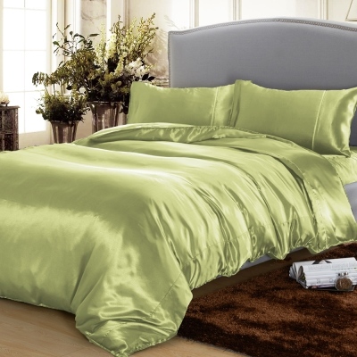 RODERLY 湖水綠 絲緞 加大四件式被套床包組