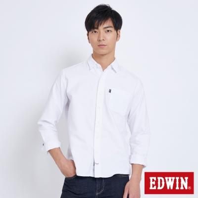 EDWIN BAUHAUS基本貼袋襯衫-男-白色