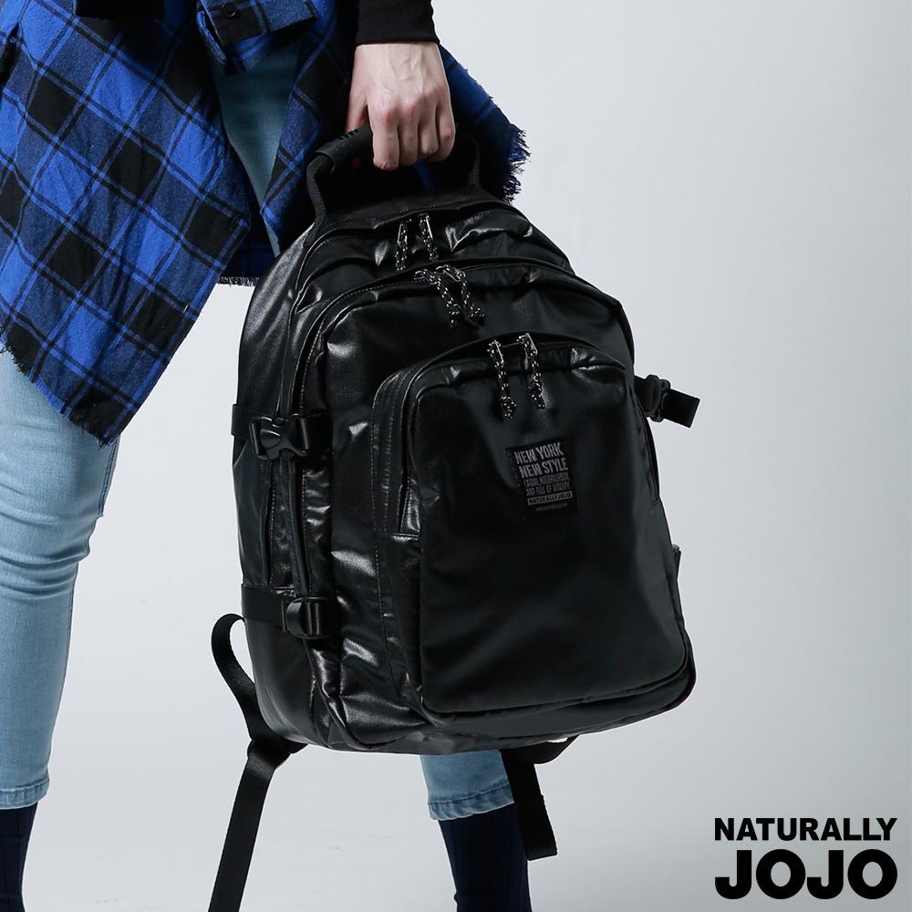 NATURALLY JOJO Y-P軍風多層後背包(黑)