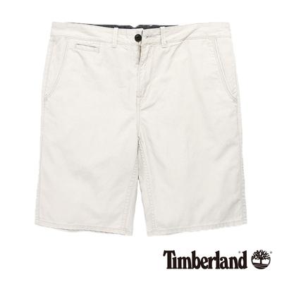 Timberland-男款米白色貼袋工作休閒短褲