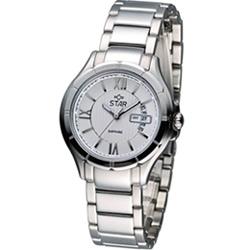 STAR 閃耀約定時尚腕錶-白/32mm