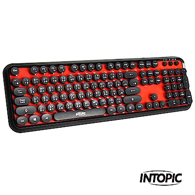 INTOPIC 廣鼎 USB打字機造型鍵盤(KBD-USB-65)