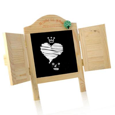 iSFun 愛心百葉窗 木製留言小黑板
