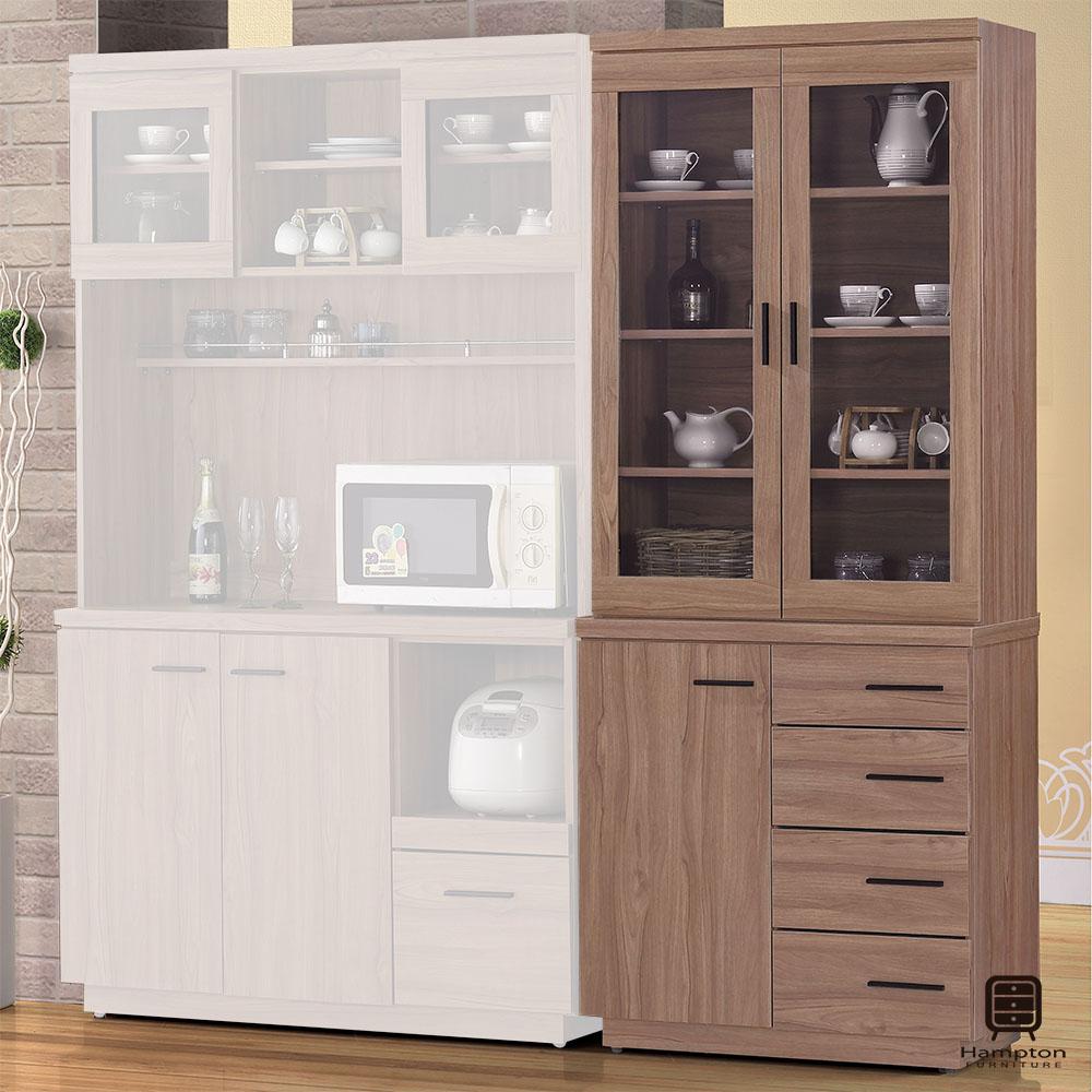 漢妮Hampton莫林系列2.7尺柚木色餐櫃(上座+下座)-82x46x200cm