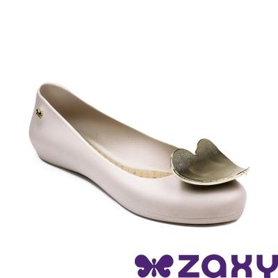 Zaxy 巴西 女 POP HEART 霧面立體愛心娃娃鞋(米白)