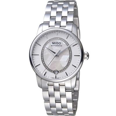 MIDO美度錶 BARONCELLI II永恆系列綺彩腕錶 -白/33mm