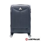 AIRWALK LUGGAGE -尊爵系列灰色的沉靜 布面拉鍊24吋行李箱 - 安靜灰