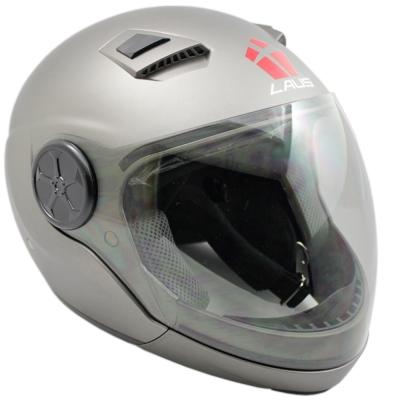 LAUS全罩下巴可拆式內置墨鏡素色安全帽-消光灰 L--快