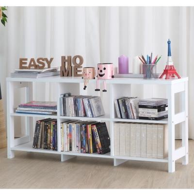 EASY HOME 二層六格隔間展示收納櫃(120x29.6x56.1cm)-DIY