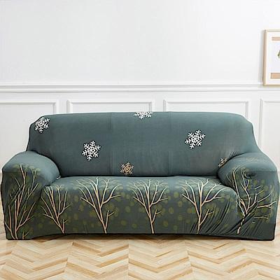 日創優品 發財樹彈性沙發套-2人坐
