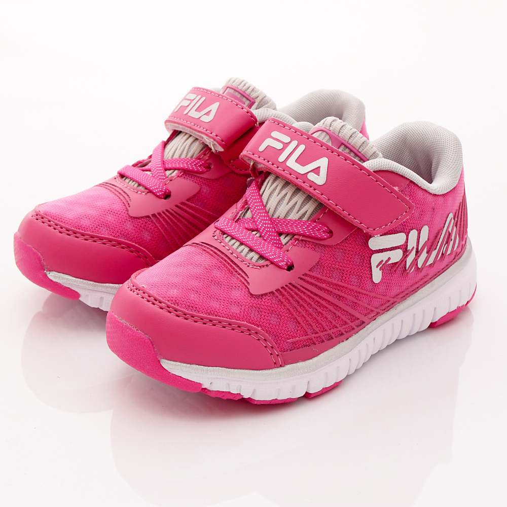 FILA頂級童鞋款-超輕機能穩定款-422R228桃銀(中小童段)HN