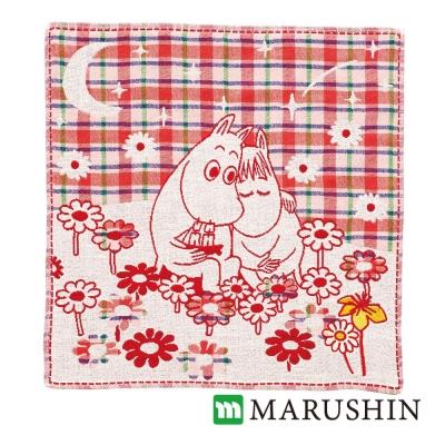 日本丸真Moomin今治三層紗布方巾-兩人的約會