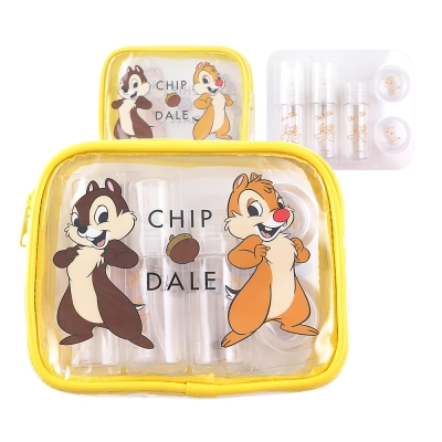 Disney迪士尼旅行瓶罐盥洗化妝萬用奇奇蒂蒂包組
