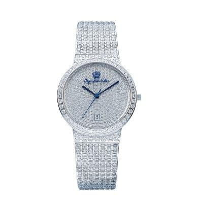 Olympia Star 奧林比亞之星 璀燦星光系列纖腕之星時尚晶鑽男錶-35mm