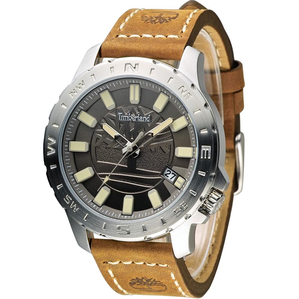 Timberland 海上冒險時尚腕錶-灰色/45mm