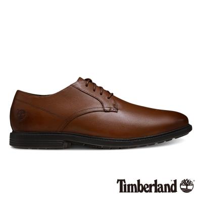 Timberland 男款咖啡色舒適避震皮革淺口鞋