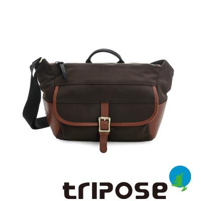 tripose STURDY系列多格層大容量休閒肩背包 - 深咖