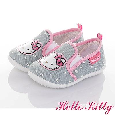 HelloKitty牛仔系列 輕量抗菌減壓懶人學步童鞋-可室內-水
