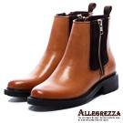 ALLEGREZZA‧率性風格真皮女靴 焦糖色