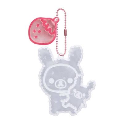 拉拉熊夜光反光珠鍊吊飾。兔子懶妹
