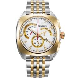 BENTLEY 賓利 Solstice系列 黑暗紳士計時手錶-金x銀/45mm