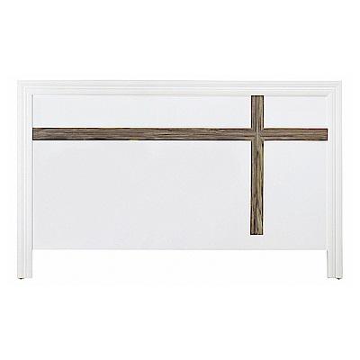 AS-昆5尺白色床頭片-154x2x93cm