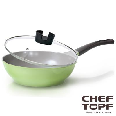 韓國 Chef Topf 薔薇系列不沾炒鍋 28公分(含玻璃蓋)