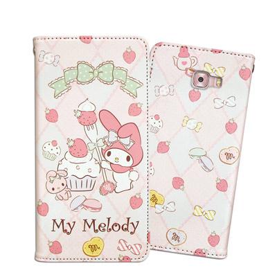 三麗鷗 Melody Samsung Galaxy C9 Pro 甜心磁扣皮套(...