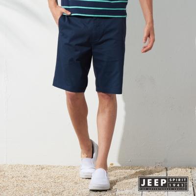 JEEP 美式時尚潮流休閒短褲 (深藍)
