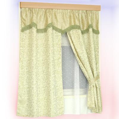 布安於室-藤蔓雙層穿管式窗簾-綠色