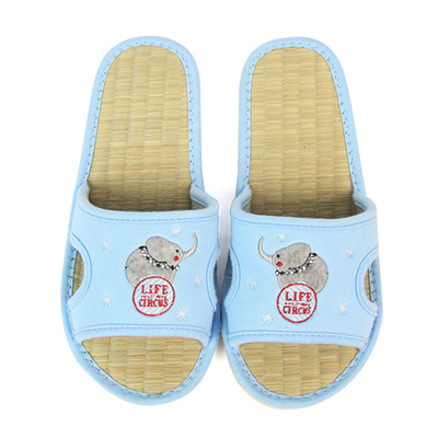 Yvonne-Collection大象貼繡拖鞋-灰