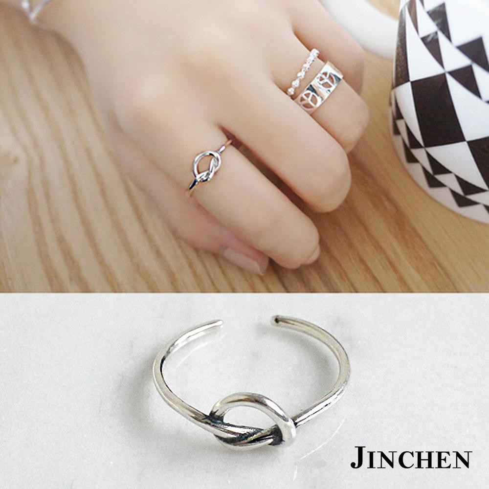 JINCHEN純銀打結開口戒指